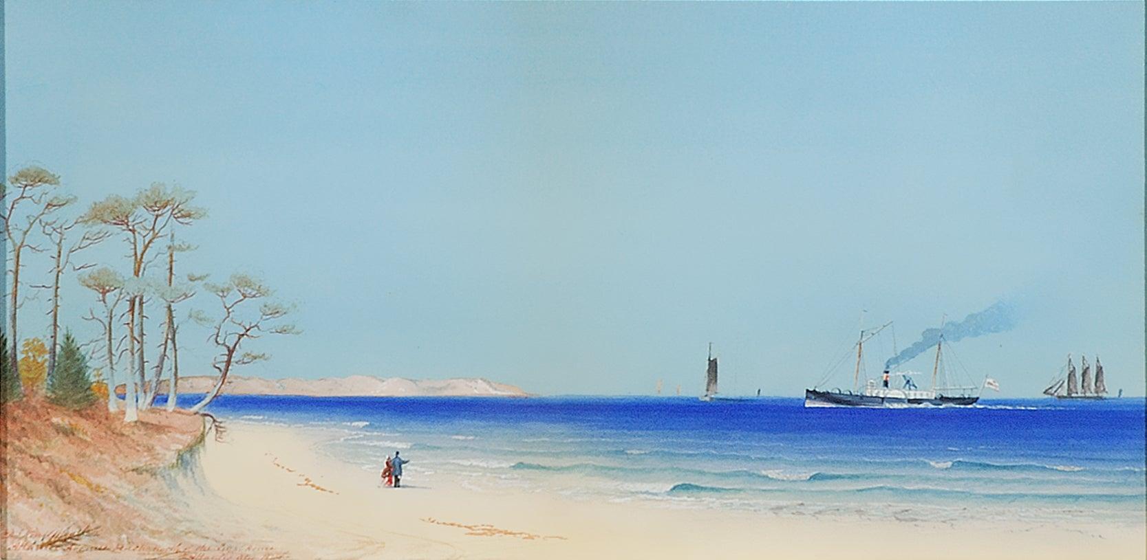 David Johnston Kennedy - Atlantic Avenue Beach North of the Light ...