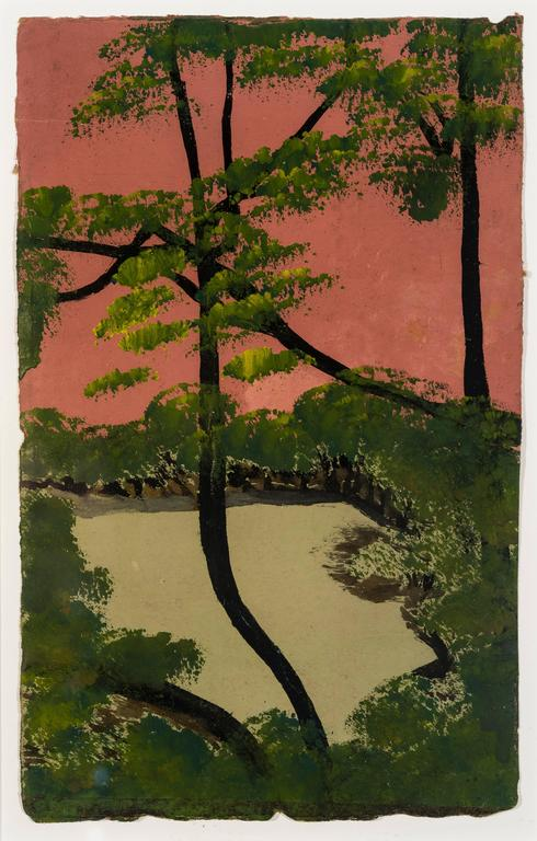 Frank Walter Landscape Painting - View of Trees with Green Foliage