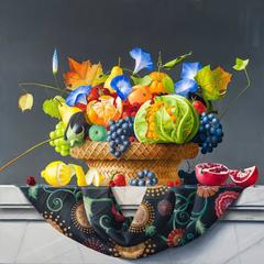 Still Life with Basket of Fruits and Vegetables