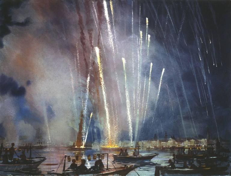 Alexander Creswell - Venice - Redentore Fireworks, Sound Study Six 1