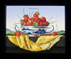 Still Life with Strawberries in a Canton Bowl