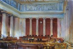The Courtroom of Supreme Court, Washington