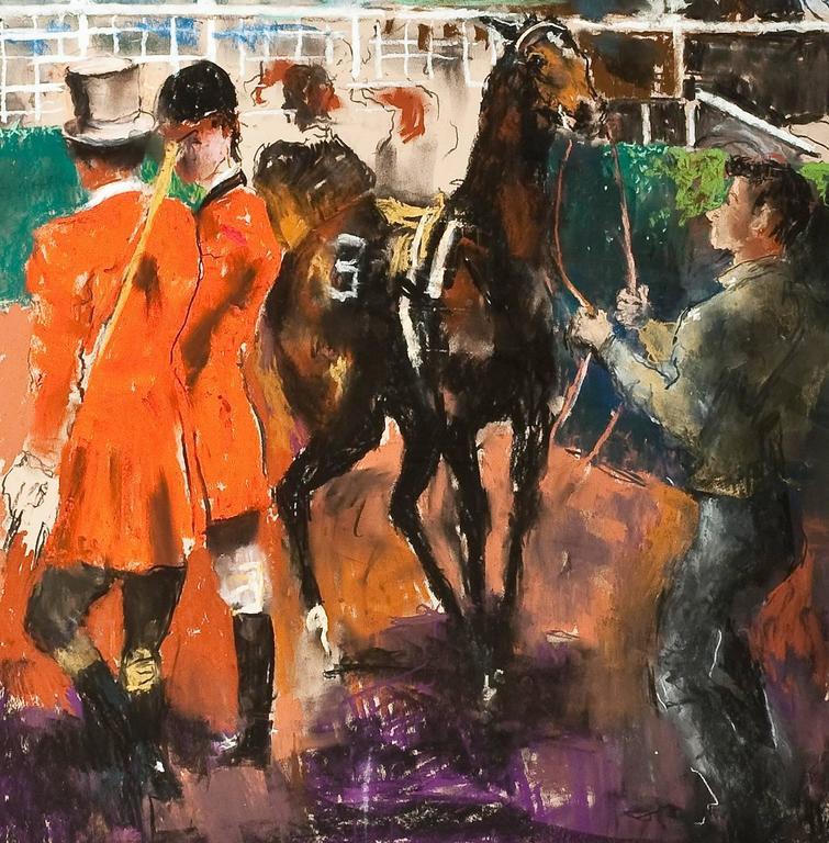 Untitled (Race Track Scene) - Art by Randall Davey