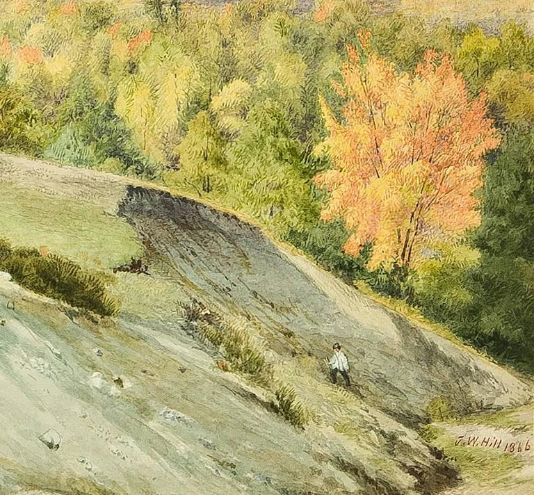 Autumn Landscape - Art by John William Hill