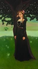 Portrait of a Woman by a Tree