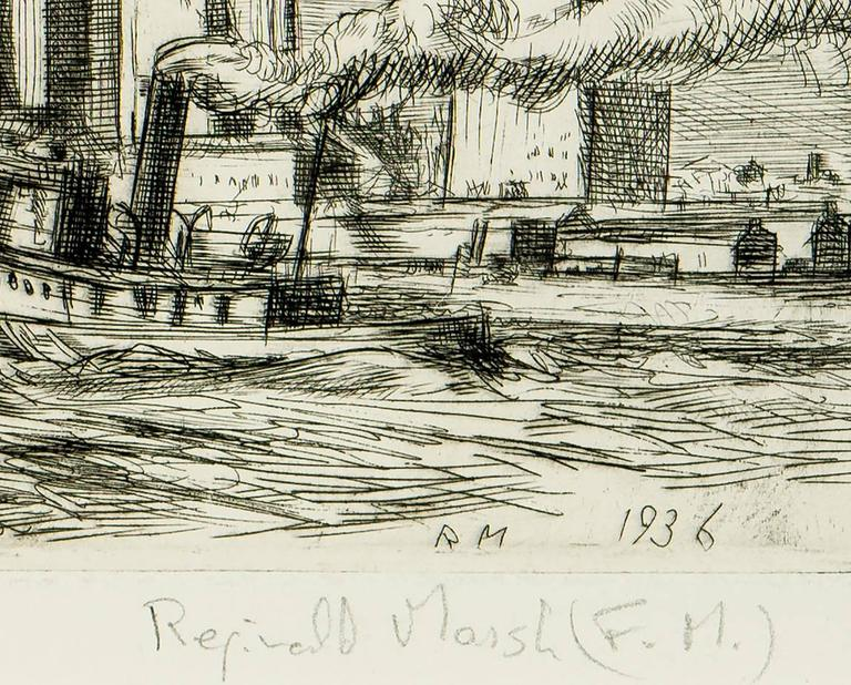 Reginald Marsh New York Skyline Print For Sale At 1stdibs