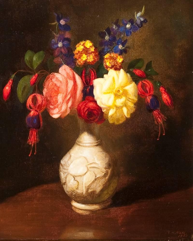 Art Energetic Still Life Flowers Painting