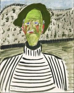 Artist in Striped Shirt