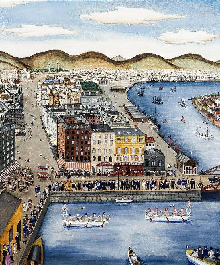 Le 14 Juillet - Painting by Hilaire Hiler