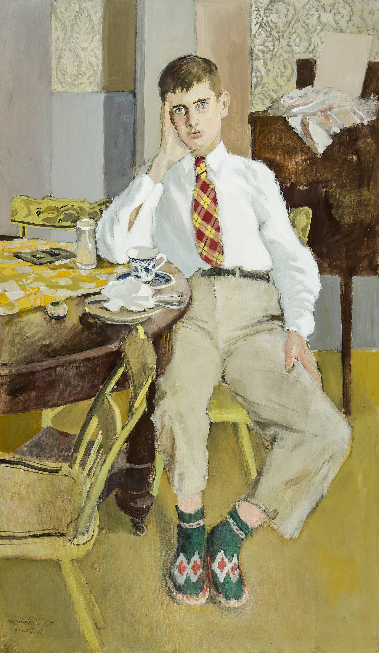 Fairfield Porter Jerry Painting At 1stdibs