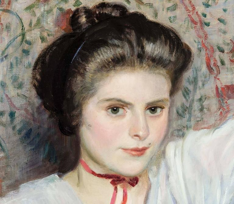 Carroll Sargent Tyson Portrait Of A Young Woman In A