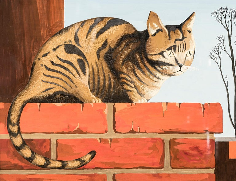 C is for Cat  - Painting by Thomas Fransioli