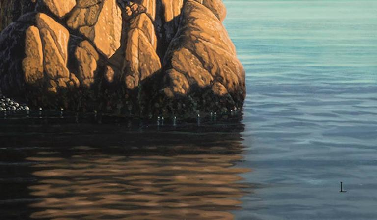 Harbor view / Seascape  Signed (at lower right): L; (on verso): D. Ligare/ 2014  In
