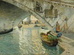 Under the Rialto Bridge of Venice