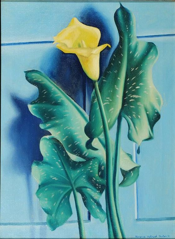Clarence Holbrook Carter - Yellow Calla Lily, Painting For ...