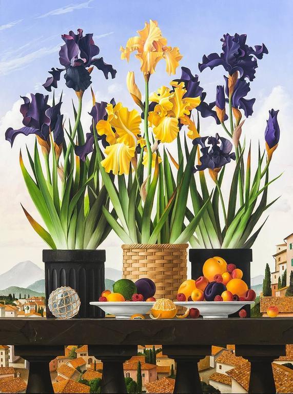 Three Pots of Iris