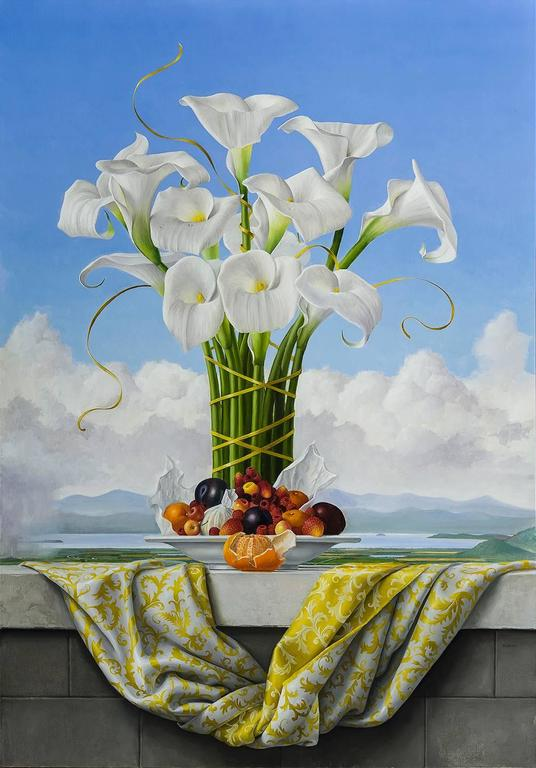 James Aponovich - Calla Lilies, Painting For Sale at 1stdibs
