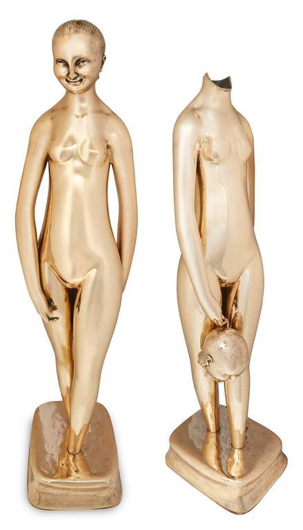 Hugo Robus Figurative Sculpture - Vase (Flower Vase; Enigmatic)