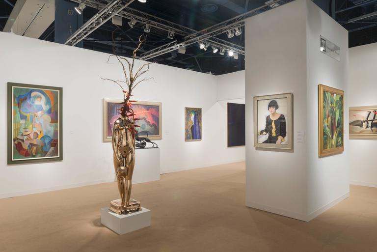 Vase (Flower Vase; Enigmatic) - Sculpture by Hugo Robus