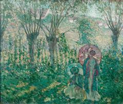 Women with Parasols (Pollard Willows)