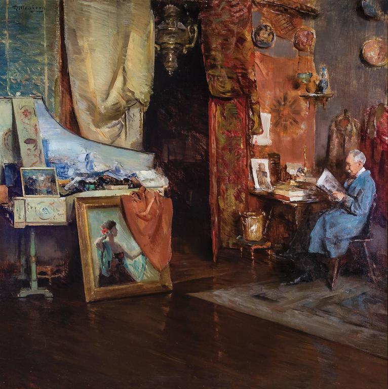 Henry Rittenberg The Studio Of Harry Watrous Painting