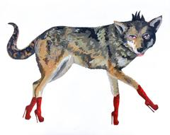 Wolf in Red Boots
