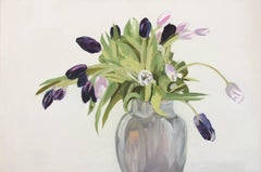Tulips in a Gray Vase (Horizontal)