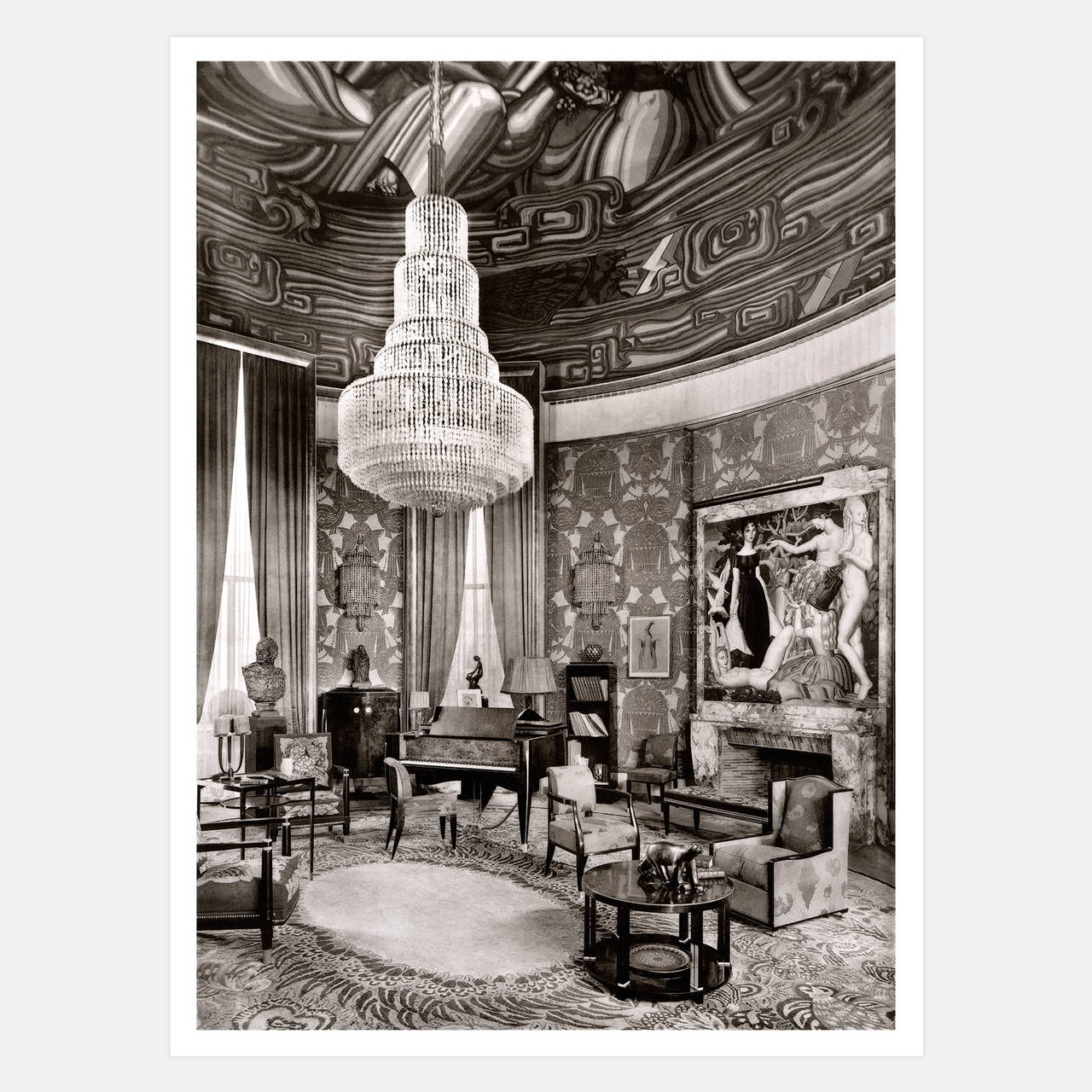 mile jacques ruhlmann grand salon paris c1925 print at 1stdibs. Black Bedroom Furniture Sets. Home Design Ideas