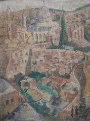 View of Jerusalem and El Akesa