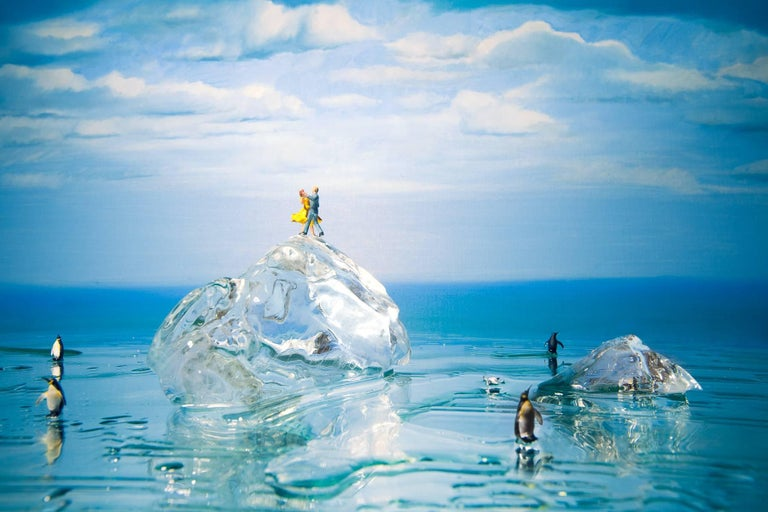 Adrien Broom Color Photograph - Waltzing on the tip on an iceberg