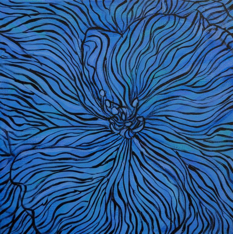 Laurence Mergi Still-Life Painting - Blue Hydrangea