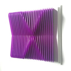 Pinched Purple - kinetic wall sculpture by J. Margulis