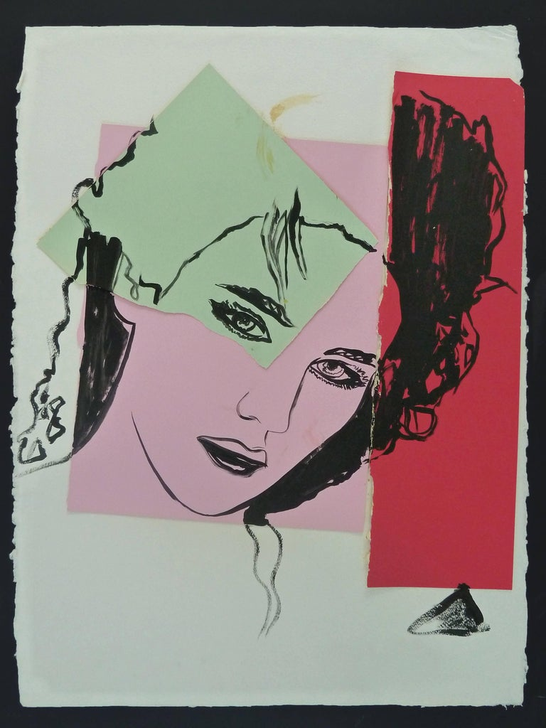 Isabelle Adjani - unique piece by Warhol - Mixed Media Art by Andy Warhol