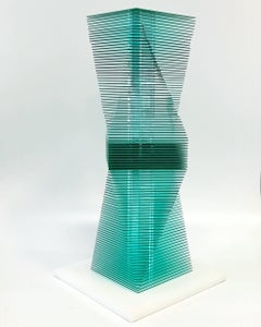 Green twist - kinetic sculpture by J. Margulis