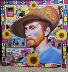 Triple Homages:Van Gogh-Kirk Douglas-Disney