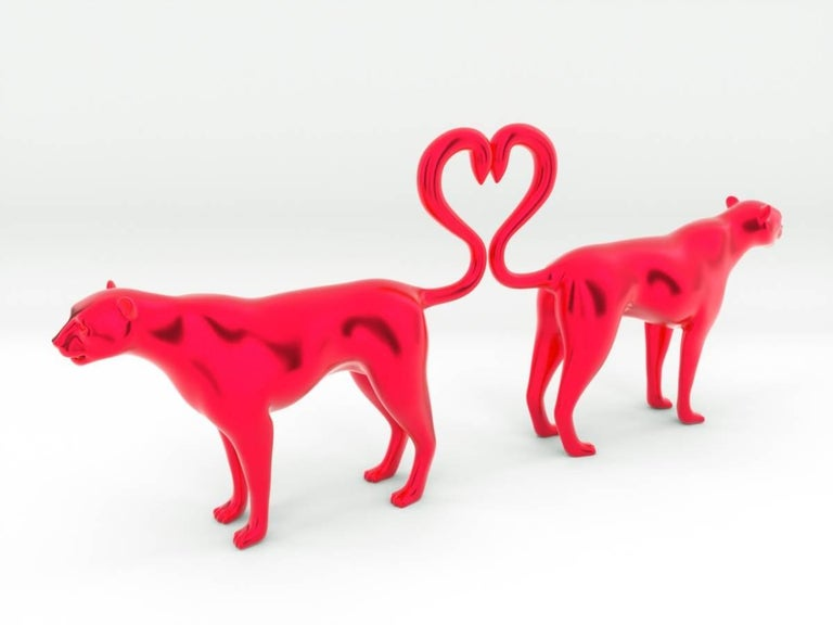 Michael Benisty Figurative Sculpture - Love Jaguar