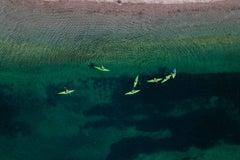 Green kayaks