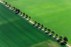 Straight Line - aerial landscape photography