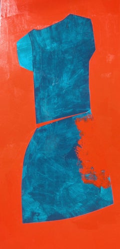 Figure Turquoise and Red