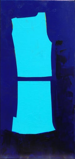 Figure in Blue and Blue