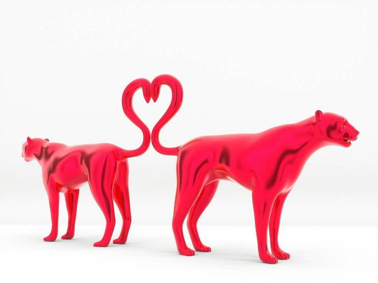 Love Jaguar - Sculpture by Michael Benisty