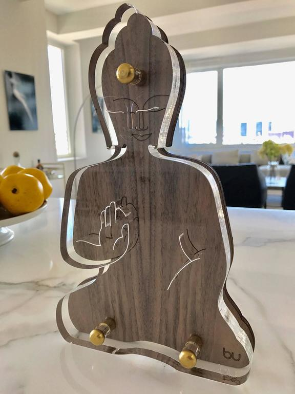 A unique Buddha sculpture, designed as an everyday reminder to live a compassionate and mindful life.  Influenced by both urban industrial reality, and by Buddhist philosophy, this sculpture will add a touch of style and spirituality to any room,