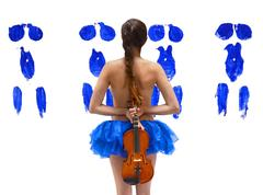Hommage a Yves Klein - The Girl