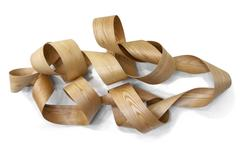 Bentwood ribbon wall mounted sculpture (untitled)