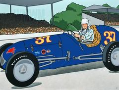 WMWM (blue race car with driver)