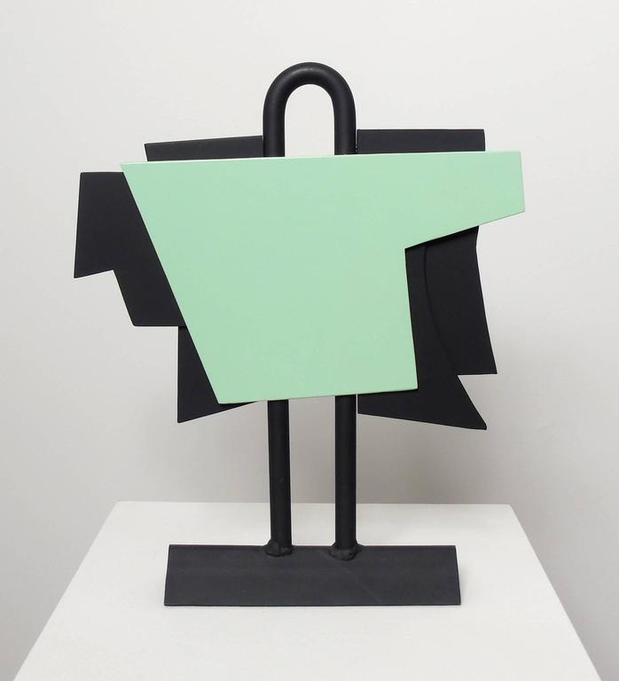 David Dowler Abstract Sculpture - The New Outfit, (geometric steel sculpture)