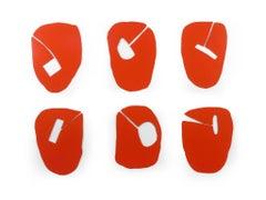 6 Opinions - modular orange wall sculpture