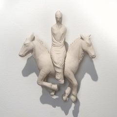 """Shroud"" White Porcelain, Wall Sculpture by Robin Whiteman"