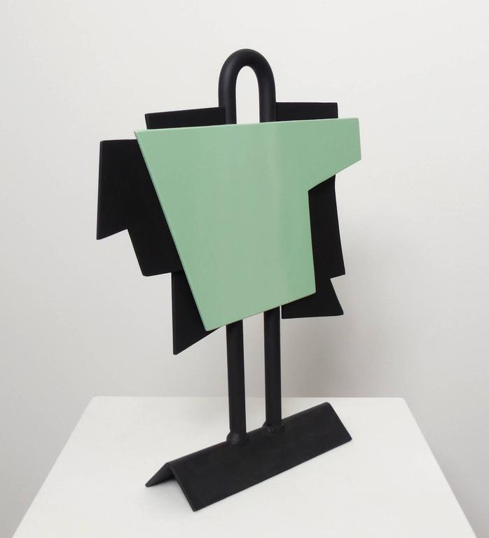 The New Outfit, (geometric steel sculpture) - Sculpture by David Dowler