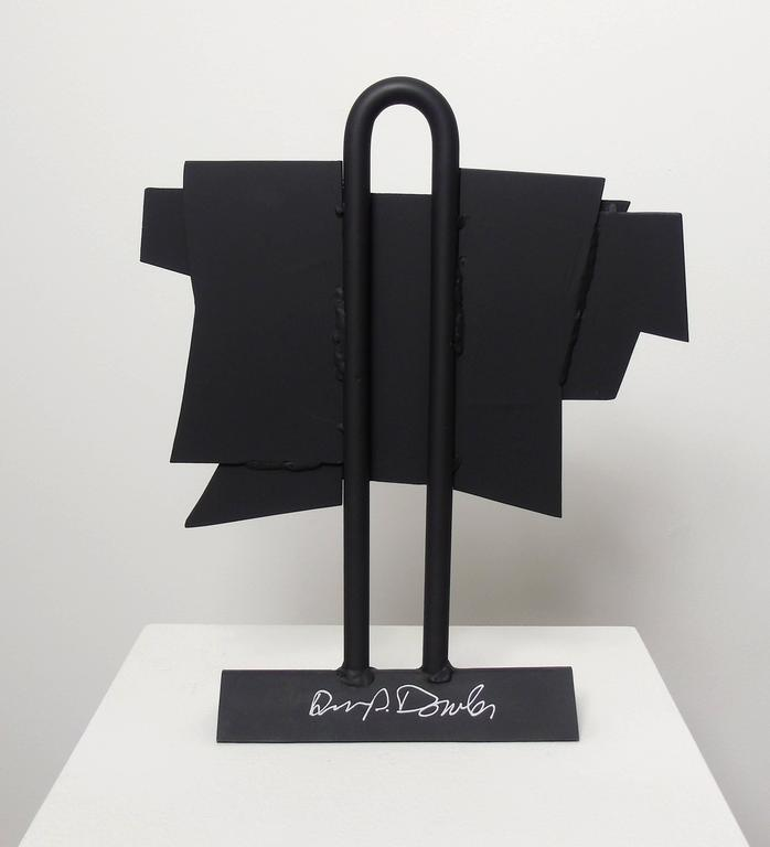 The New Outfit, (geometric steel sculpture) - Gray Abstract Sculpture by David Dowler